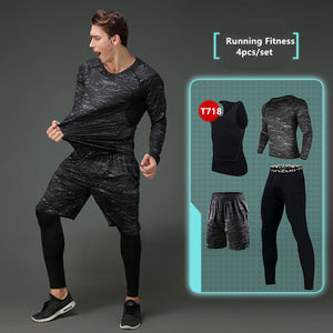 Compression Men's Sport Suits - Quick Dry Joggers Training Tracksuits-sportswear-Love My Husband Shop-4-S-Love My Husband Shop