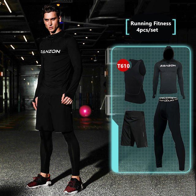Compression Men's Sport Suits - Quick Dry Joggers Training Tracksuits-sportswear-Love My Husband Shop-7-S-Love My Husband Shop