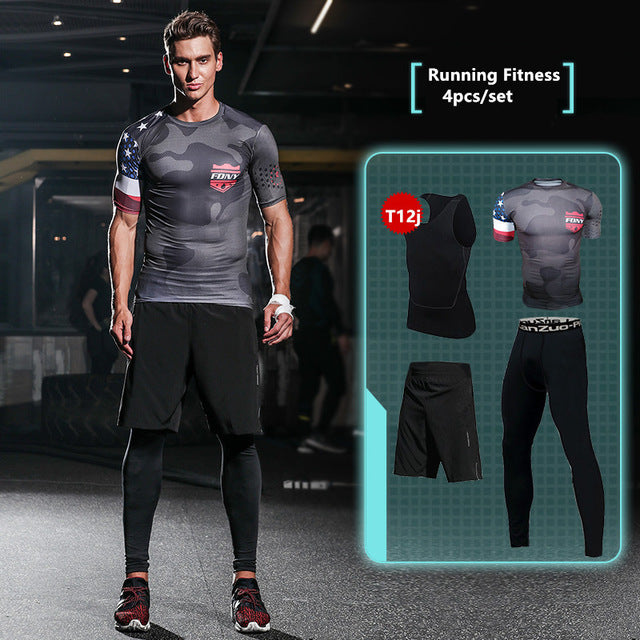 Compression Men's Sport Suits - Quick Dry Joggers Training Tracksuits-sportswear-Love My Husband Shop-11-S-Love My Husband Shop