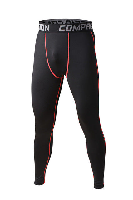 Men's compression pants; bodybuilding, jogger, exercise-compression pants-Love My Husband Shop-style 2015017-L-Love My Husband Shop