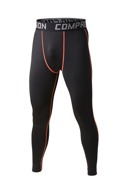 Men's compression pants; bodybuilding, jogger, exercise-compression pants-Love My Husband Shop-style 2015019-L-Love My Husband Shop