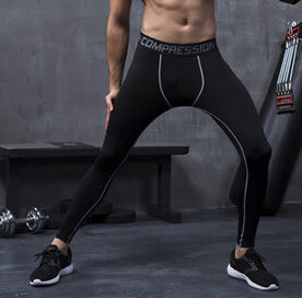 Men's compression pants; bodybuilding, jogger, exercise-compression pants-Love My Husband Shop-style 2015020-L-Love My Husband Shop
