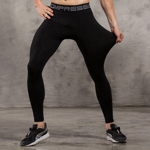 Men's compression pants; bodybuilding, jogger, exercise-compression pants-Love My Husband Shop-style 2015026-L-Love My Husband Shop