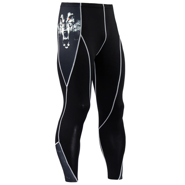 Men's Compression Pants - Skinny Leggings, Tight, Fitness Joggers, Elastic Bodybuilding Trousers-compression pants-Love My Husband Shop-KC63-S-Love My Husband Shop