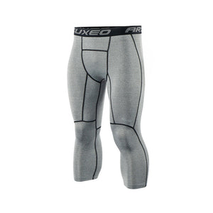 New Men's Running Compression Leggings-compression pants-Love My Husband Shop-Gray-M-Love My Husband Shop