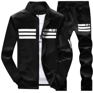 New Men's Sportswear Jackets + pants Clothing Sets (runs small)-sportswear-Love My Husband Shop-Black-M-Love My Husband Shop