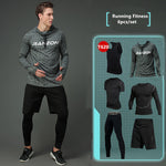 Compression Men's Sport Suits - Quick Dry Joggers Training Tracksuits-sportswear-Love My Husband Shop-Love My Husband Shop