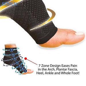 Anti Fatigue Elastic Compression Sleeve Men's Ankle Socks-Casual Footwear-Love My Husband Shop-Love My Husband Shop
