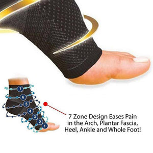 Anti Fatigue Elastic Compression Sleeve Men's Ankle Socks-Casual Footwear-Love My Husband Shop-black-M-Love My Husband Shop