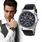 Luxury Fashion Crocodile Faux Leather Men's Analog Watches-watch-Love My Husband Shop-Love My Husband Shop