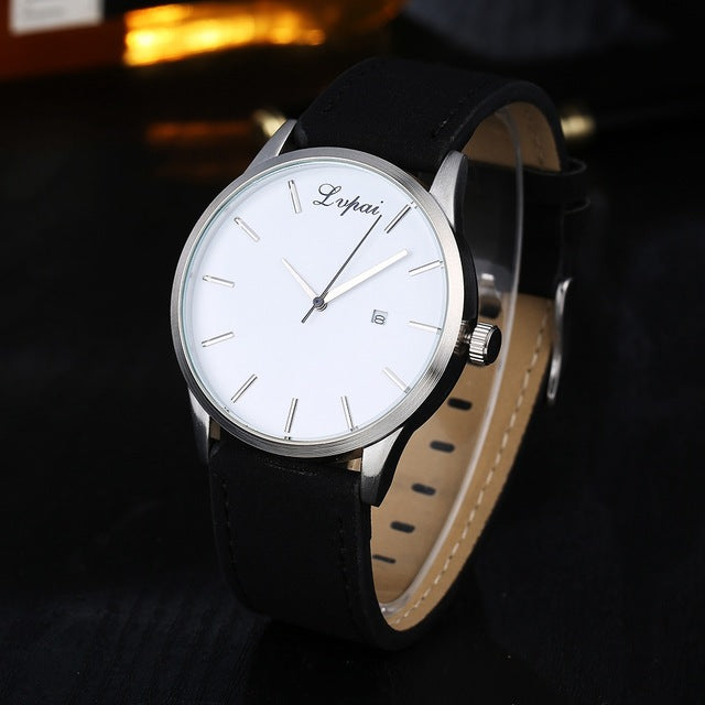 LVPAI Fashion Casual Men's Watches-watch-Love My Husband Shop-Black White-Love My Husband Shop