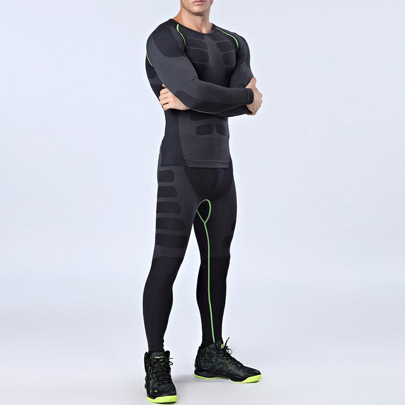 Quick Dry Men's 2 pieces/sets Compression Sports Suits-sportswear-Love My Husband Shop-Love My Husband Shop