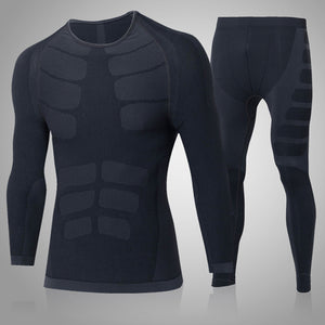 Quick Dry Men's 2 pieces/sets Compression Sports Suits-sportswear-Love My Husband Shop-60196020 grey-China-Asian L-Love My Husband Shop