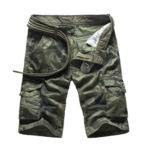 Camouflage Camo Cargo Shorts Men 2018 New Mens Casual Shorts Male Loose Work Shorts Man Military Short Pants Plus Size 29-44-shorts-Love My Husband Shop-1566Green Camo-29-Love My Husband Shop