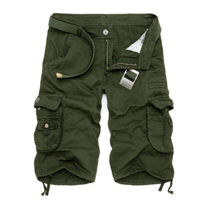 Camouflage Camo Cargo Shorts Men 2018 New Mens Casual Shorts Male Loose Work Shorts Man Military Short Pants Plus Size 29-44-shorts-Love My Husband Shop-Army Green-29-Love My Husband Shop