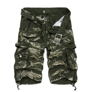 Camouflage Camo Cargo Shorts Men 2018 New Mens Casual Shorts Male Loose Work Shorts Man Military Short Pants Plus Size 29-44-shorts-Love My Husband Shop-6603 Green Camo-29-Love My Husband Shop