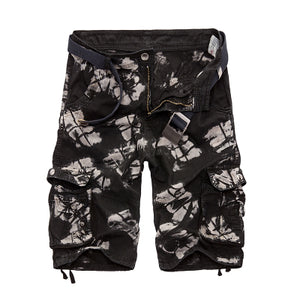 Camouflage Camo Cargo Shorts Men 2018 New Mens Casual Shorts Male Loose Work Shorts Man Military Short Pants Plus Size 29-44-shorts-Love My Husband Shop-Black Camo-29-Love My Husband Shop