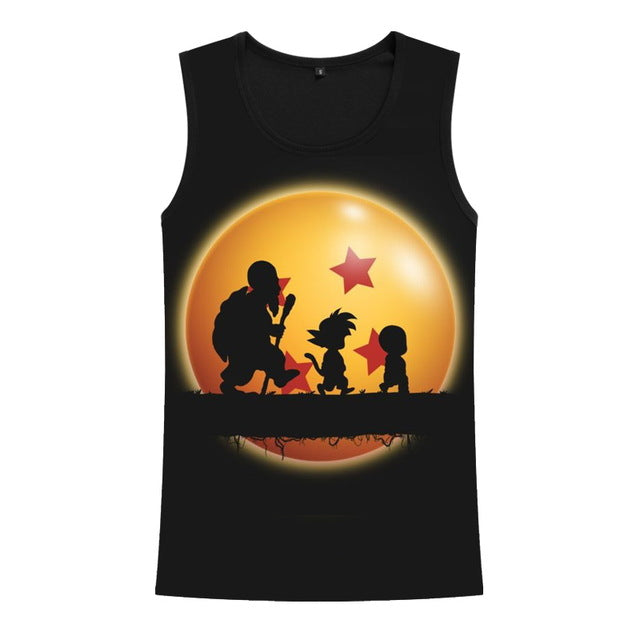 Anime Dragon Ball Z Men's Summer Tank Tops-fitness-Love My Husband Shop-1-XS-Love My Husband Shop