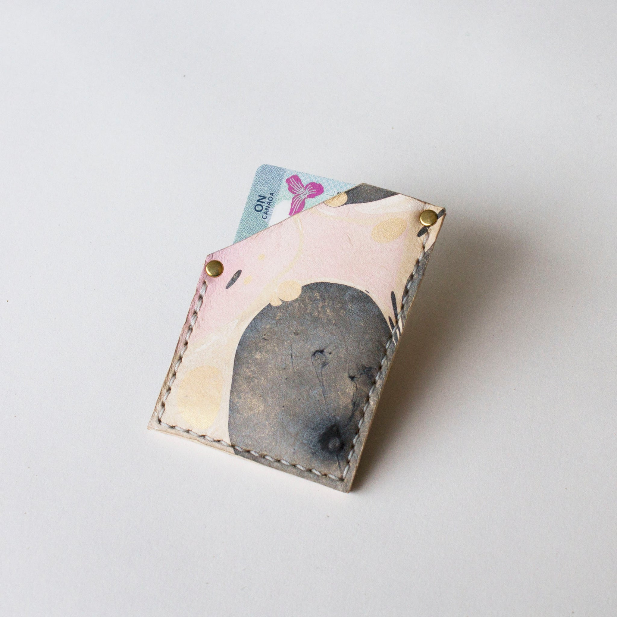 Marbled Leather Card Sleeve