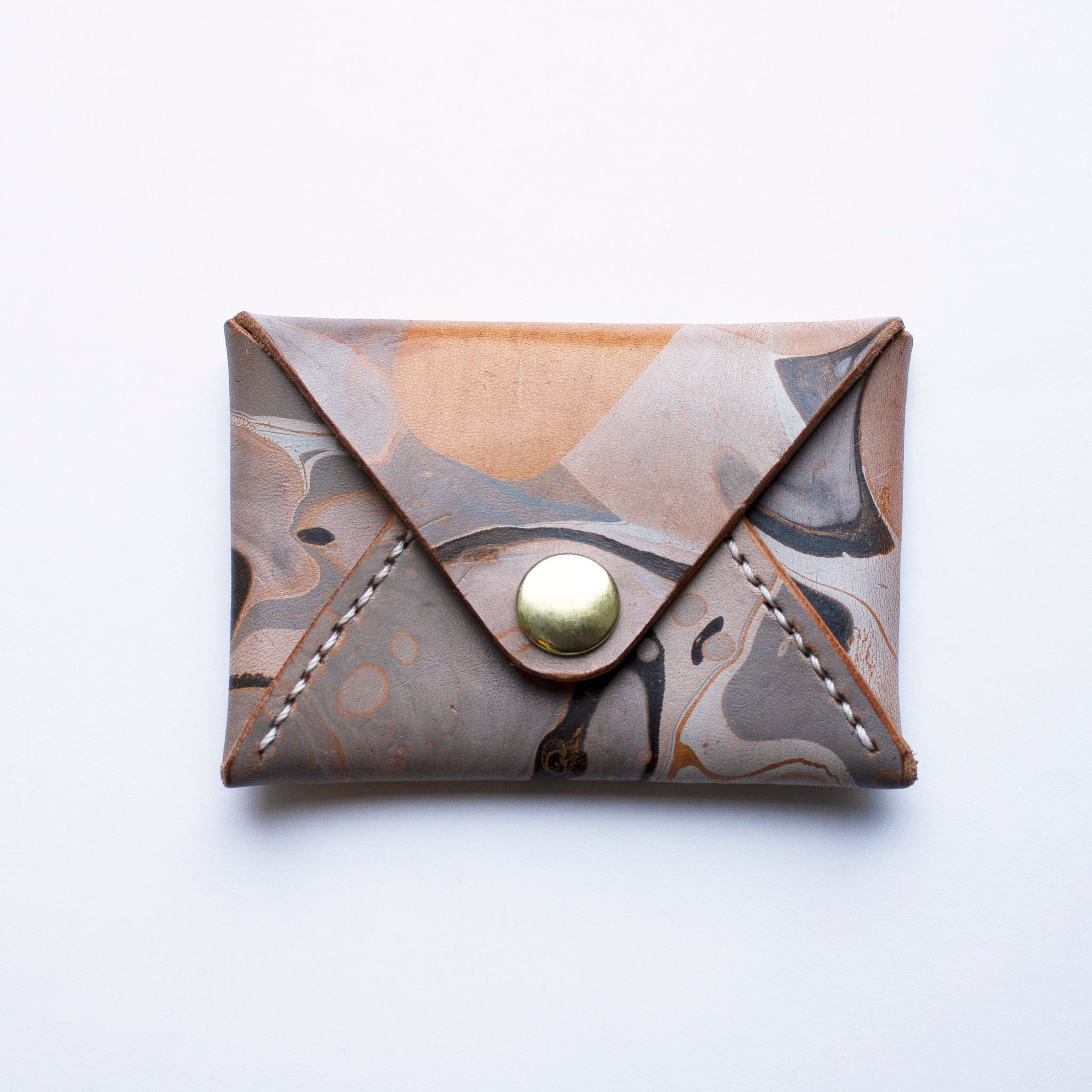 Marbled Leather Card Holder