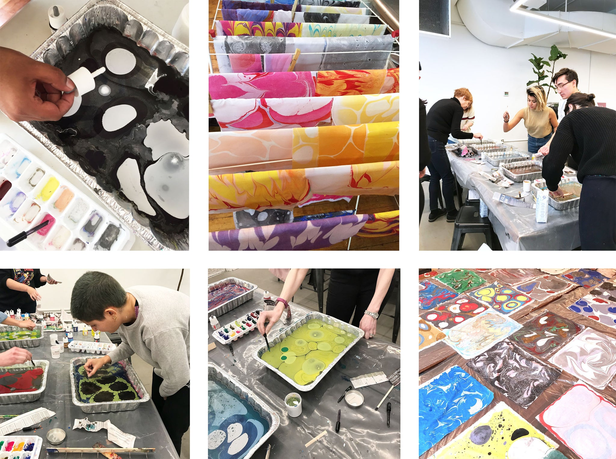 Fabric Marbling 101 at Common People Shop
