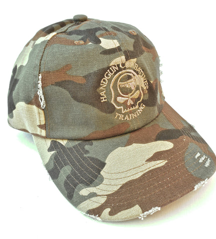 Handgun Combatives Camo Embroidered Hat
