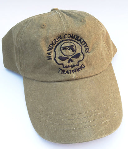 Handgun Combatives Khaki Embroidered Hat