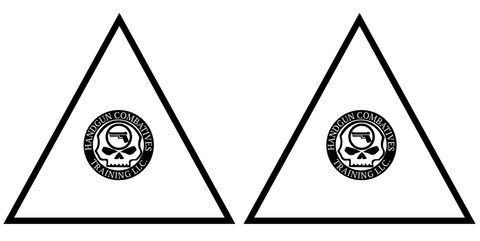 Downloadable Handgun Combatives Rectangle/Triangle Targets