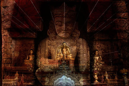 Buddha print featuring Thailand & Myanmar limited edition and signed