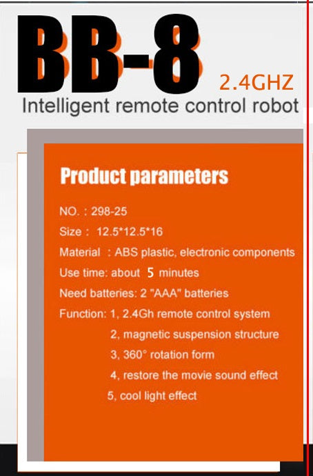 Star Wars 7 RC BB8 remote control intelligent Action Figure toy