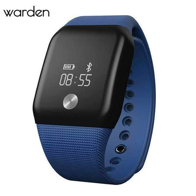 Ahmed Blue Sport Heart Rate Blood Pressure Monitor SmartWatch