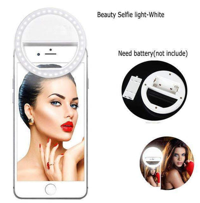 Ahmed clip white / rechargeable Rechargeable USB LED Selfie Ring Cover For iPhone 5s 6S 7 7plus