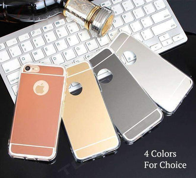 Ahmed Luxury Mirror Soft Silicone Case Protector Shell Cover For iPhones
