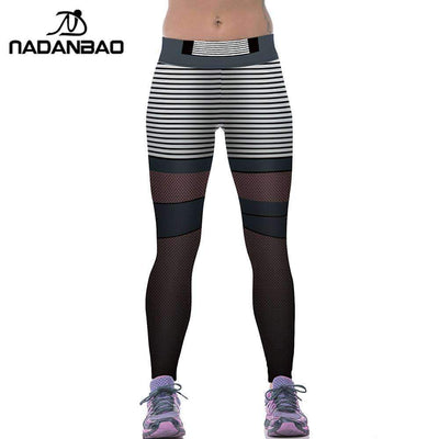 Ahmed NADANBAO Brand Summer Leggings Women Stripes