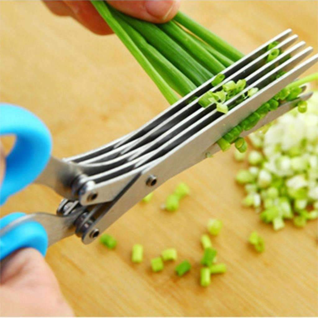Ahmed New 5 layers Stainless Steel Scissors Kitchen Tools