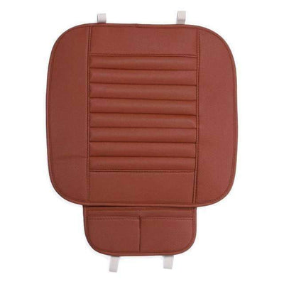 Ahmed Orange PU Leather Car Seat Cover, Four Seasons !!Anti Slip Mat Car Seat Cushion Cover Universal Size