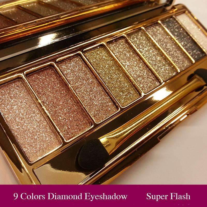 Ahmed Professional Eye Shadow <3 9 Colors Diamond Bright Makeup Eyeshadow AMAZING !! highly recommended