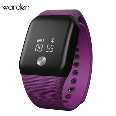 Ahmed Purple Sport Heart Rate Blood Pressure Monitor SmartWatch