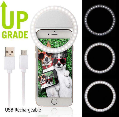 Ahmed Rechargeable USB LED Selfie Ring Cover For iPhone 5s 6S 7 7plus