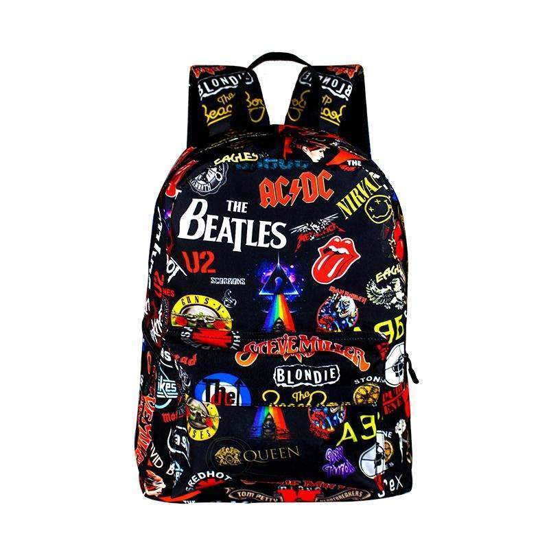 Rock Band The Beatles  Backpack Girls Rucksack School Bags