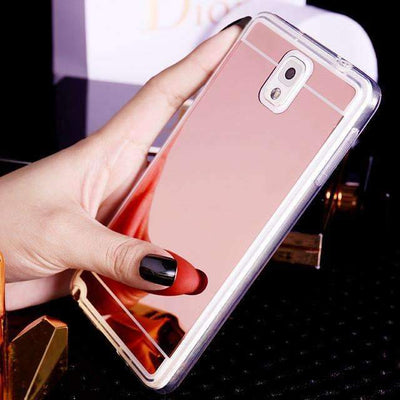 Ahmed Rose Gold / S4 Plating Mirror Back Case Cover For Samsung