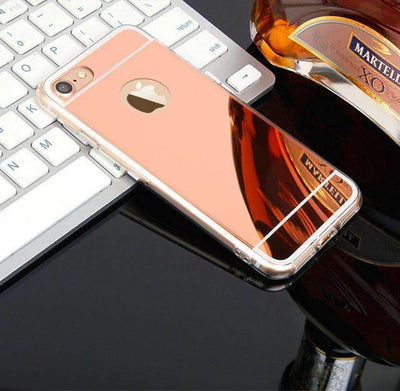 Ahmed RosGod / For iPhone 6 6S Plus Luxury Mirror Soft Silicone Case Protector Shell Cover For iPhones