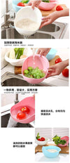 Ahmed Super Practical!! Creative Fashion Wash Rice Sieve Bright Kitchen Plastic