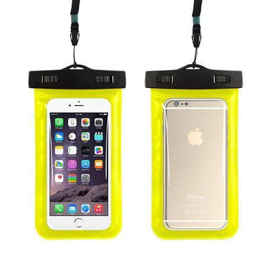 Ahmed yellow Universal Phone Bags Pouch with Strap Waterproof Cases Covers for iPhone 6 5S 6S 7 Plus Case Cover