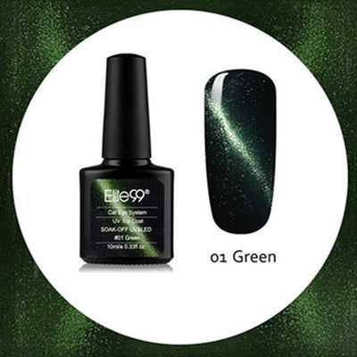 My Envy Shop 01 Green Gel Nail Polish Top Coat Soak Off UV LED Magnetic 3D Effect Cat Eye