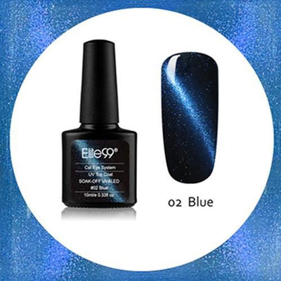 My Envy Shop 02 Blue Gel Nail Polish Top Coat Soak Off UV LED Magnetic 3D Effect Cat Eye