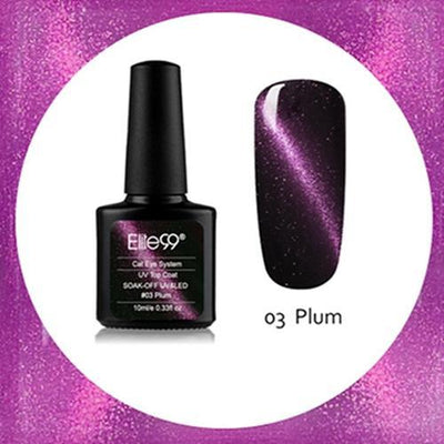 My Envy Shop 03 Plum Gel Nail Polish Top Coat Soak Off UV LED Magnetic 3D Effect Cat Eye