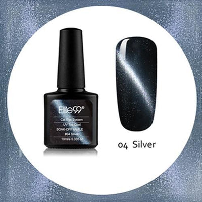 My Envy Shop 04 Silver Gel Nail Polish Top Coat Soak Off UV LED Magnetic 3D Effect Cat Eye