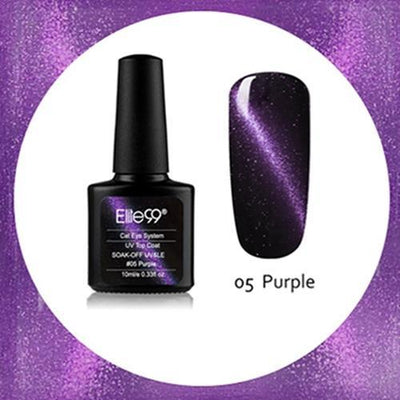 My Envy Shop 05 Purple Gel Nail Polish Top Coat Soak Off UV LED Magnetic 3D Effect Cat Eye