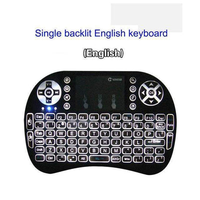 My Envy Shop 1 color backlit Eng Original Backlight i8 2.4GHz Wireless Keyboard Air Mouse Touchpad